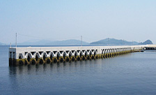 山口県上関町祝島漁港